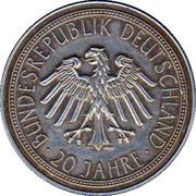 Token - 20 Jahre Deutschland – reverse