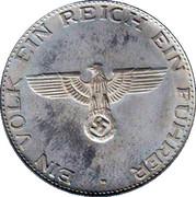 Token - Adolf Hitler – reverse