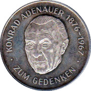 Token - Konrad Adenauer – obverse