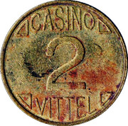 2 Francs - Casino de Vittel – reverse