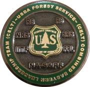 Conflict management challenge coin (USFS CELT) – reverse