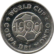Token - FIFA World Cup 1990 (USA) – reverse