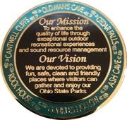Hocking Hills State Park Challenge coin – reverse