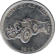 Shell Token - Famous Sports Cars (Bentley 4,5 Liter 1929) – obverse