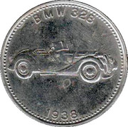 Shell Token - Famous Sports Cars (BMW 328 1938) – obverse