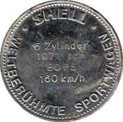 Shell Token - Famous Sports Cars (BMW 328 1938) – reverse