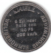 Shell Token - Famous Sports Cars (Fiat Dino Coupé 1969) – reverse