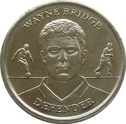 Token - Official England Squad 2004 (Wayne Bridge) – obverse