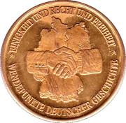 Token - Tag der Deutschen Einheit 9. November 1989 – reverse
