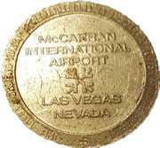 1 Dollar Gaming Token - McCarran International Airport (Las Vegas, Nevada) – reverse