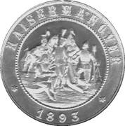 Token - Wilhelm II. – reverse