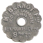 Token - Empty Bag (Bernot Freres House) – obverse