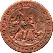 1 Pfennig - Heubacher Glückspfennig (Rosenstein Wandertag 1976) – obverse