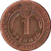 1 Pfennig - Heubacher Glückspfennig (Rosenstein Wandertag 1976) – reverse