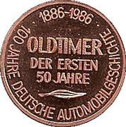 Token - 100 Jahre Deutsche Automobilgeschichte (Dixi 1927) – reverse