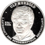 Token - Ulf Merbold - First German in Space – obverse