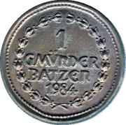 1 Gmünder Batzen (Schwäbisch Gmünd) – reverse