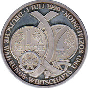 Token - 1 Deutsche Mark 1990 – reverse