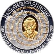 Token - Hans-Dietrich Genscher – obverse
