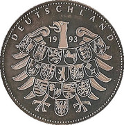 Token - Deutschland (Promulgation of the Basic Law in 1949) – reverse