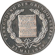 Token - Deutschland (Promulgation of the Basic Law in 1949) – obverse
