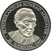Konrad Adenauer 25th Death Anniversary -  obverse