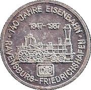 Token - 140 Jahre Eisenbahn – obverse