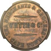 Token - Whyte & Co. Tea Merchants & Grocers (Cape Town) – reverse