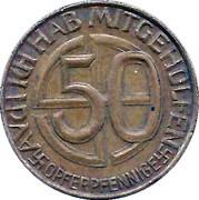 50 Opferpfennige – reverse