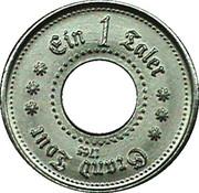 1 Taler - Grand Tour 1765 – reverse