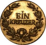 1 Kreuzer - Johann Peter Hebel – obverse