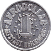 1 Akrodollar – reverse