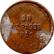 Pass Token - Albert I – reverse