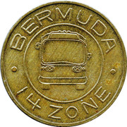 Bus Token - 14 Zones – obverse