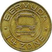Bus Token - 14 Zones – reverse