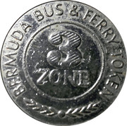 Bermuda Bus and Ferry Token - 3 Zones – obverse
