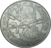 50 Pirate Pound Simba – obverse