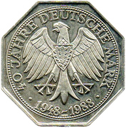 Deutsche Mark (40 Years Anniversary) – reverse