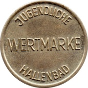 Public Swimming Pool Token - Würzburg (youth) – reverse