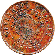 Greenwood & Batley Ltd Token – obverse