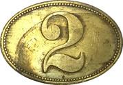 2 Peso - Miramar (coffee harvester token) – obverse
