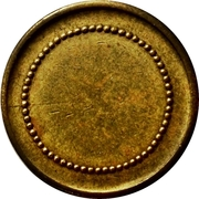 Blank Token with circle of beads – obverse