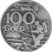 100 Gold - Advertisement Token – obverse