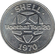 Shell Token - Voetbal Top 20 (Wim van Hanegem) – reverse