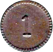 1 Cent (Military canteen token) – reverse