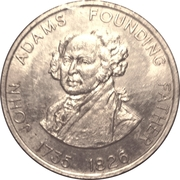 Token - Shell Famous Americans Coin Game (John Adams) – obverse