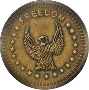 "Token - No Cash Value (Eagle looking left; ""Freedom""; Brass; 23.4 mm) – obverse"