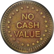 """Token - No Cash Value (Eagle looking left; """"Freedom""""; Brass; 23.4 mm) – reverse"""