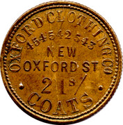 21 Shillings Oxford Clothing Co (Unofficial Farthing) – reverse