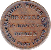 1 Farthing (Dublin - Cannock White & Co.) – reverse